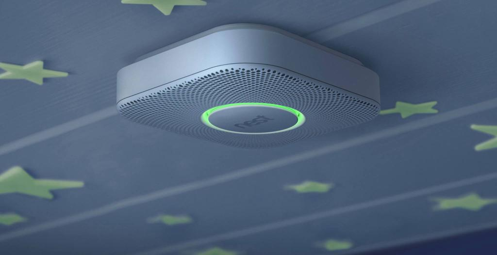 Google Nest Smoke and CO Detector in kids room