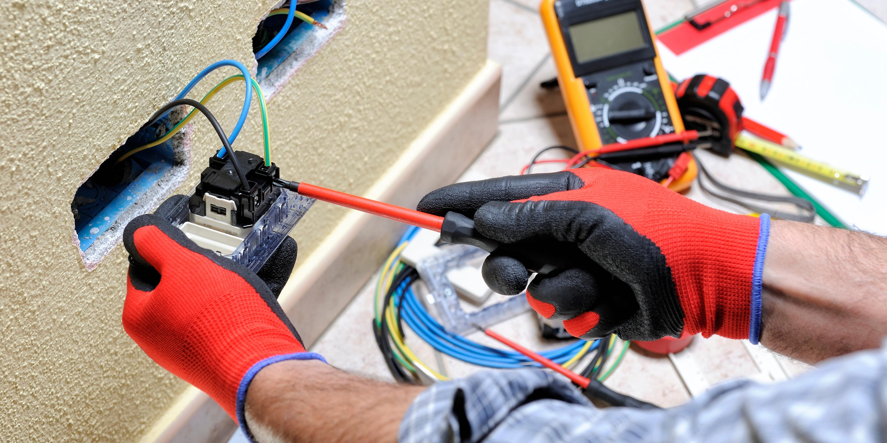 Speck Family Electric changing the wires to an outlet is when you should hire an electrician.